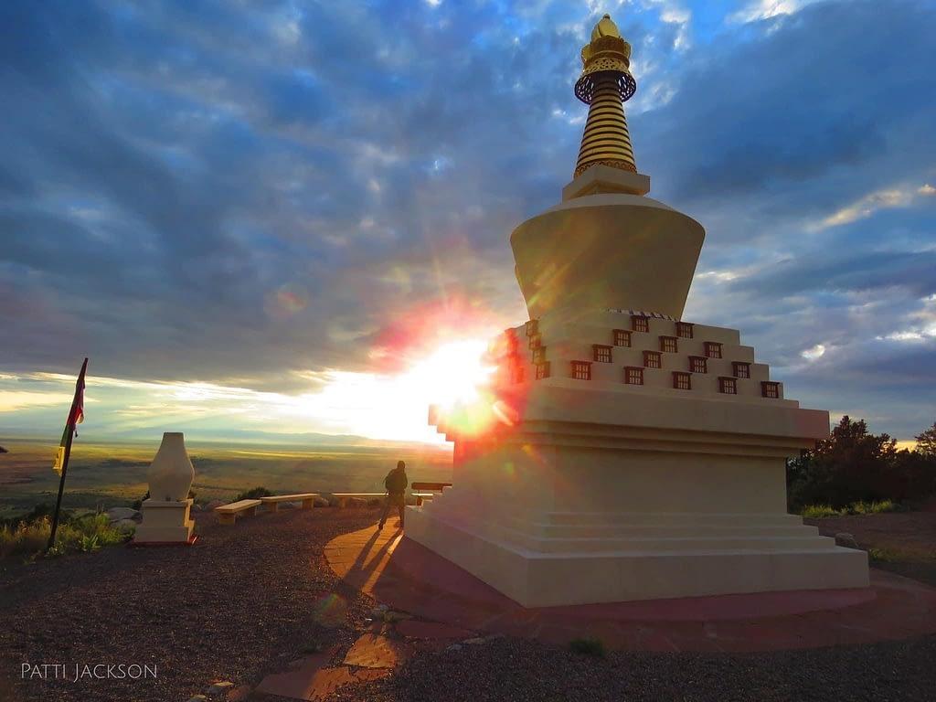 Tashi Gomang Stupa at Sunset