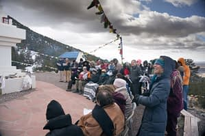 Ceremony at Tashi Gomang Stupa