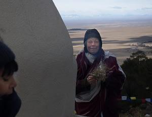 Ann at Tashi Gomang Stupat